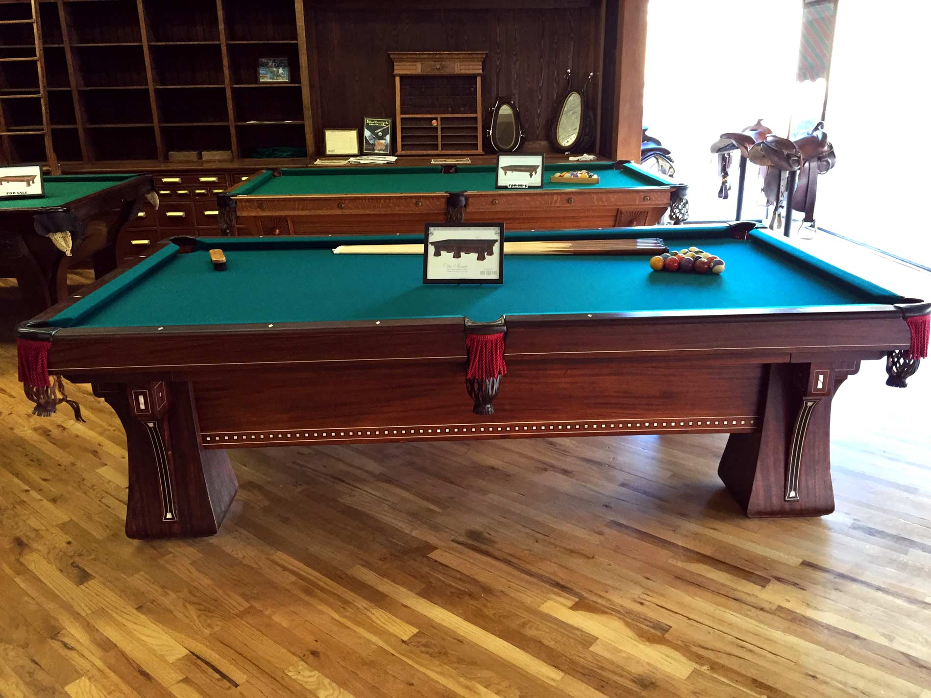 Cowboy Billiards The Arcade Antique Brunswick Pool Table - Old brunswick pool table