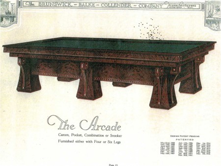 The Arcade: Antique Brunswick Pool Table For Sale