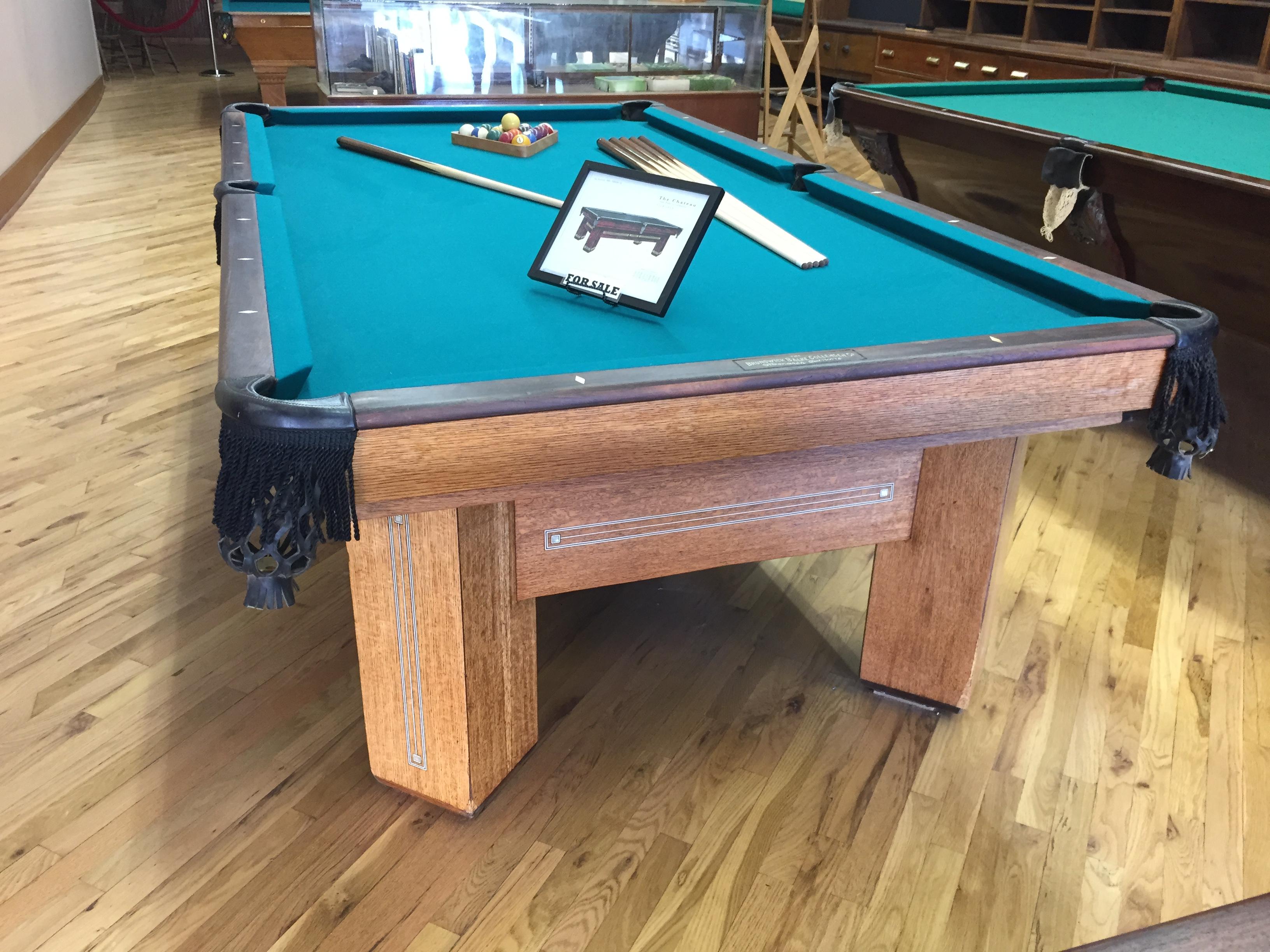 Cowboy Billiards The Chateau Antique Brunswick Pool Table - Brunswick chateau pool table