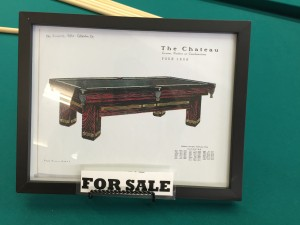 The Chateau: Antique Brunswick Pool Table For Sale