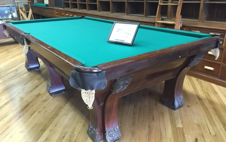 The Pfister: Antique Brunswick Pool Table For Sale