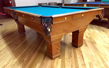 Antique Brunswick Pool Table For Sale #5