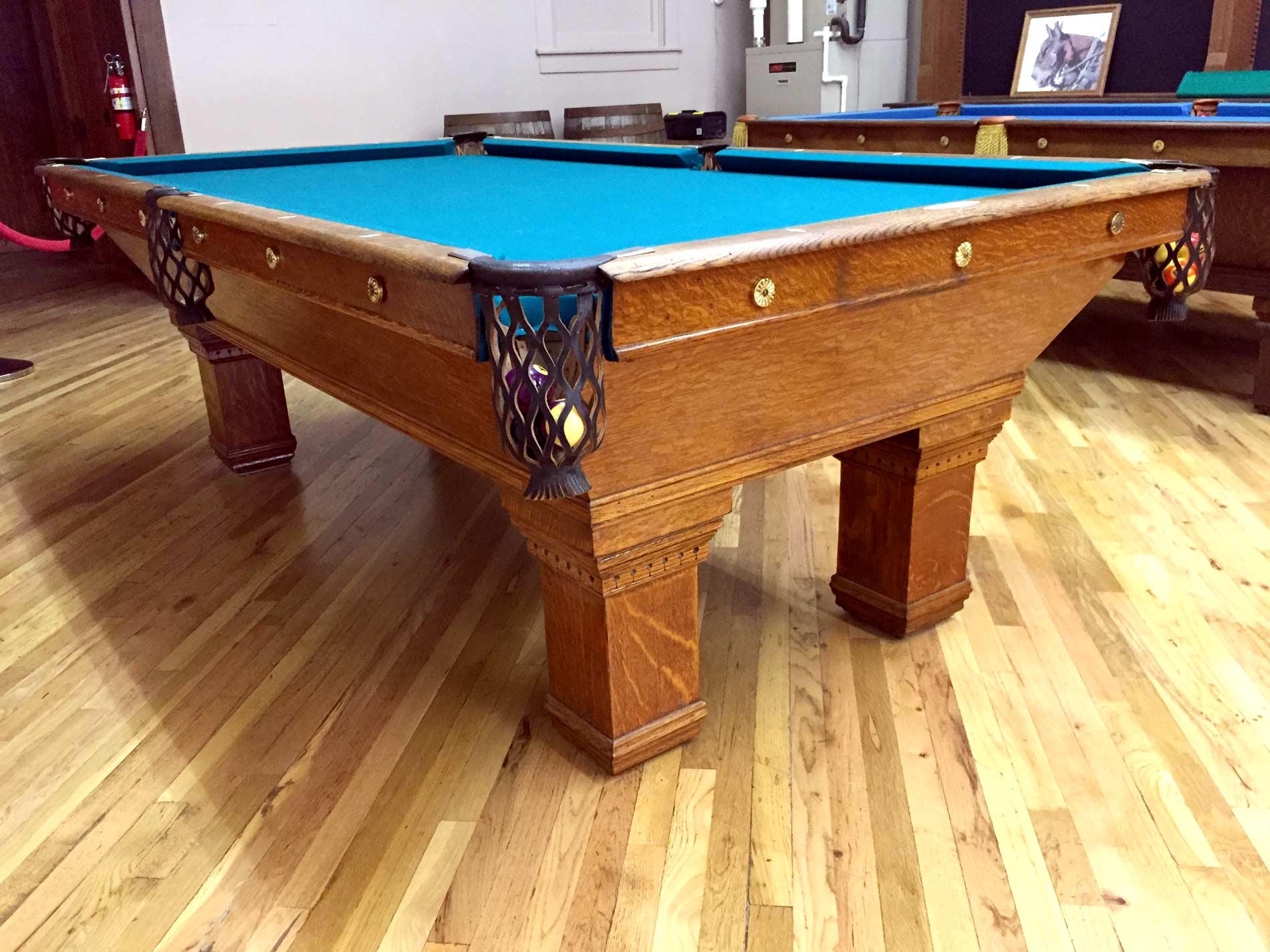 Cowboy Billiards Antique Brunswick Pool Table - Brunswick chateau pool table