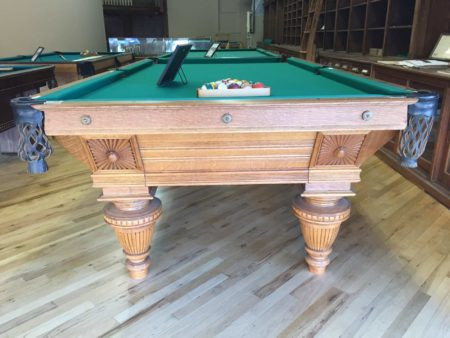 Sunburst Union League: Antique Brunswick Pool Table For Sale